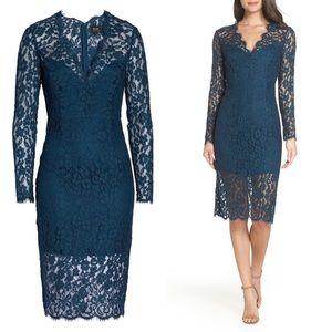 Bardot Midnight Lace Dress